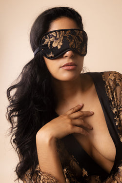 Ametrine Silk Sleep Mask | Coco de Mer | Anya Lust