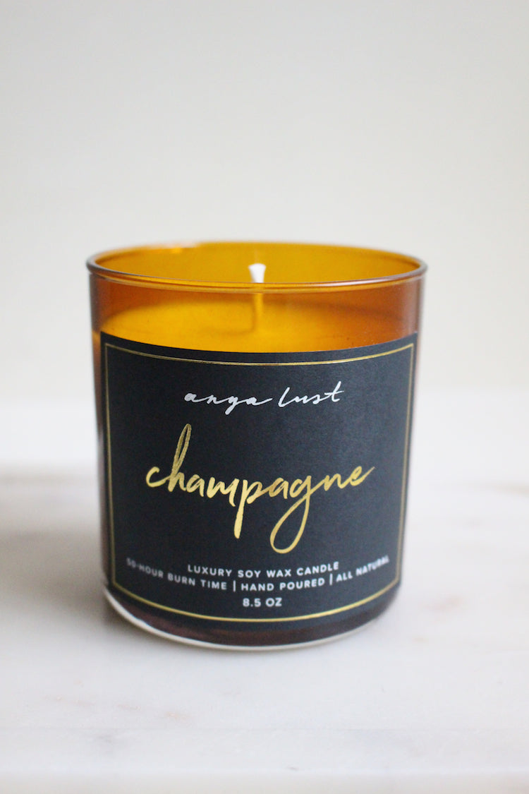 Anya Lust candles - champagne