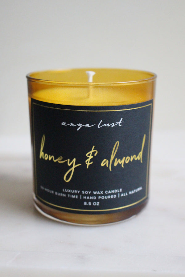Anya Lust honey and almond candle