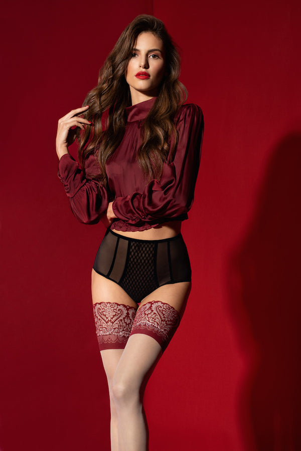 Arabesque Hold-Up Stockings