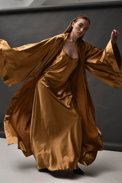 Aurum Satin Robe Set