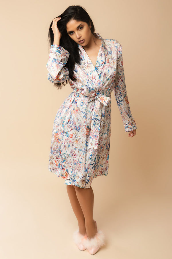 Blooming Brindisi Silk Robe | Anya Lust