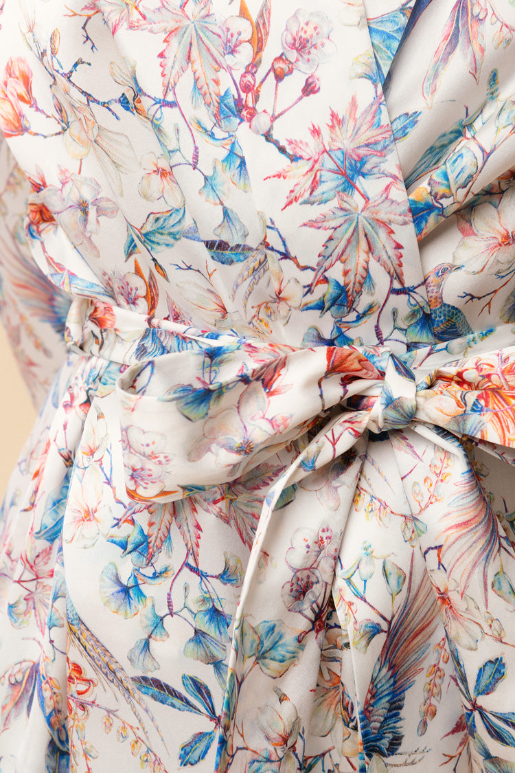 Blooming Brindisi Silk Robe | Derek Rose London | Anya Lust