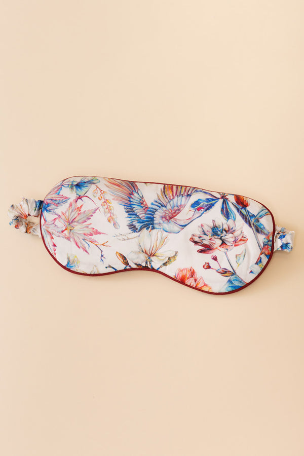 Blooming Brindisi Silk Sleep Mask | Derek Rose London | Anya Lust