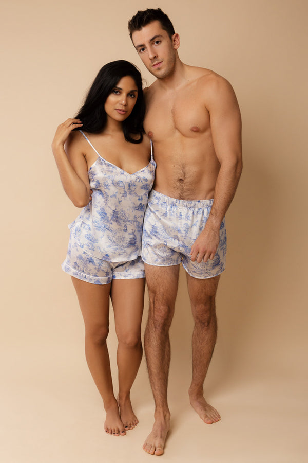 Brindisi His & Hers Silk Pajamas | Derek Rose London | Anya Lust