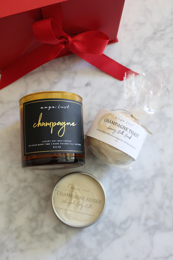 Champagne Bath Gift Set - Anya Lust Luxury Boutique