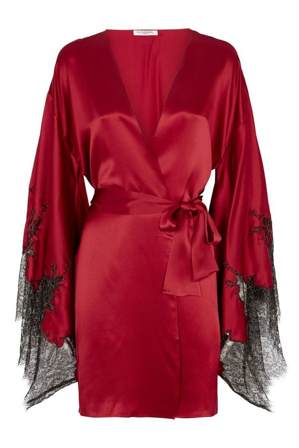Coco Ruby Silk Robe