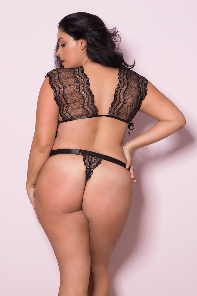 Eliza Plus Size Lace Teddy