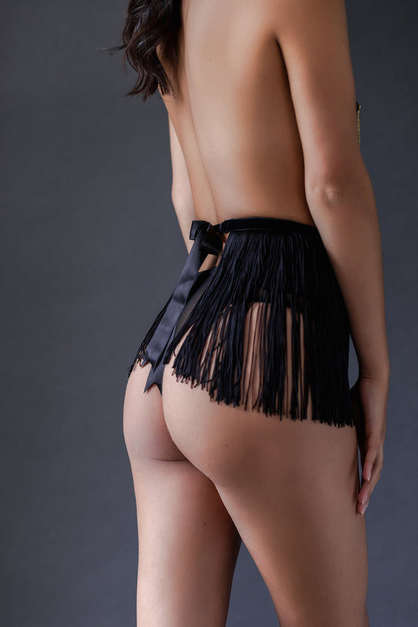 Fringe Maid Skirt - Anya Lust Luxury Lingerie