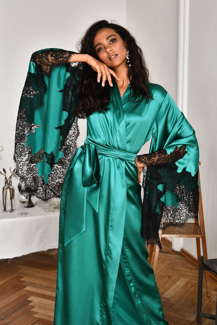 luxury silk robe | european lingerie | anya lust