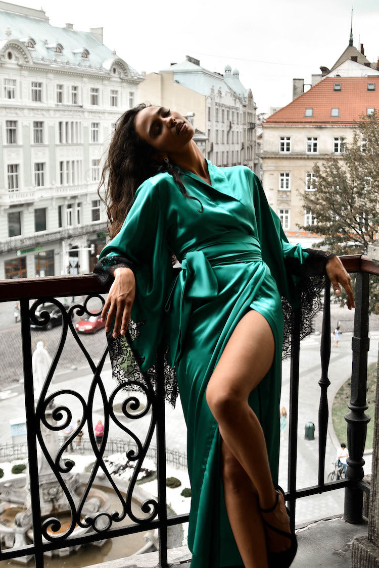 luxury silk lingerie | silk robe | anya lust