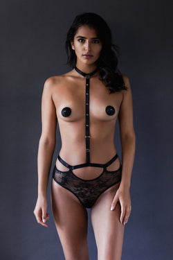 Gigi Harness Thong - Tatu Couture - Anya Lust Luxury Lingerie