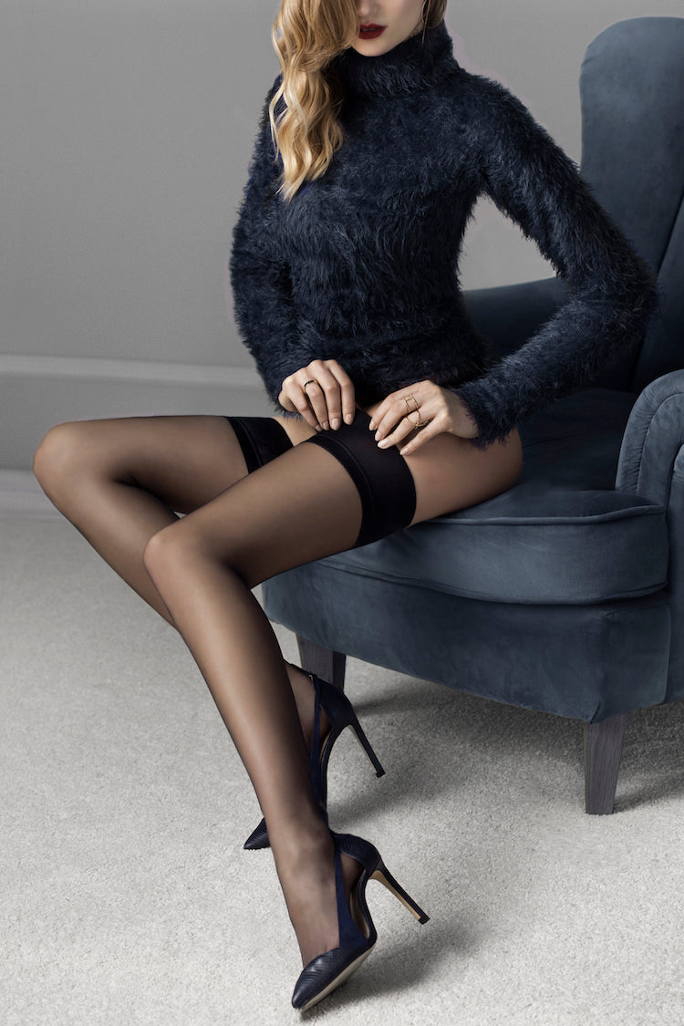 Glam Hold Up Thigh High Stockings | Anya Lust