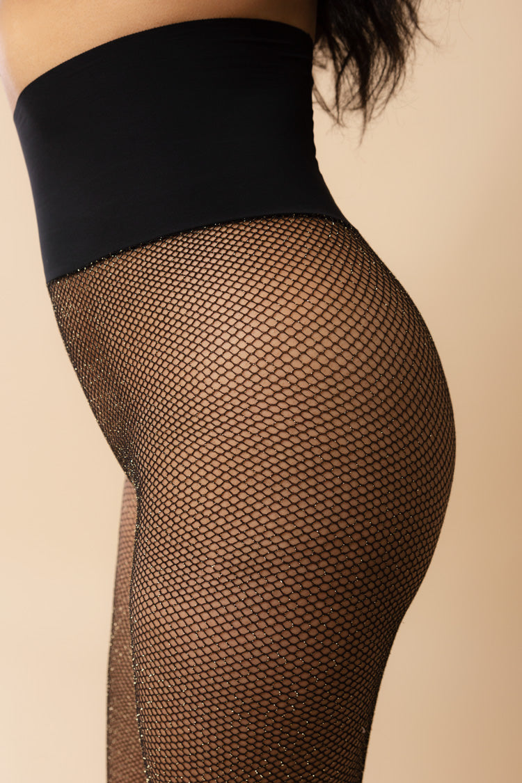 Glitter Fishnet Tights | Commando | Anya Lust Lingerie Boutique