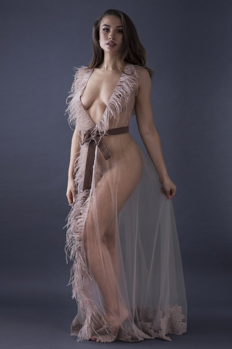 Grand Sheer Robe - Amoralle - Anya Lust Lingerie