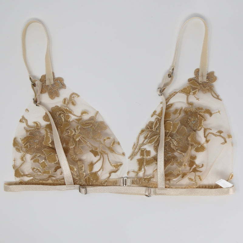 Ornella Sheer Lingerie Set with 3D Flowers