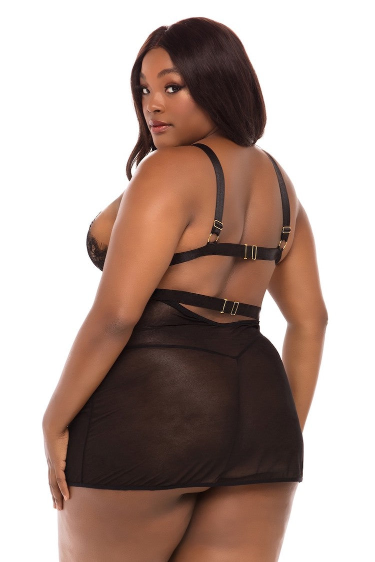Janet Sheer Plus Size Babydoll | Women's Sexy Lingerie | Anya Lust