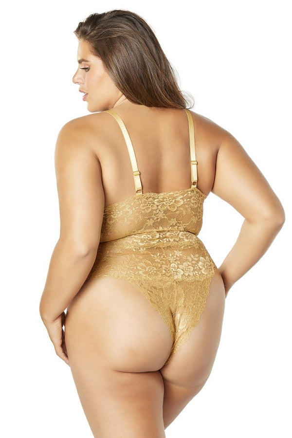 Joella Plus Size Lace Bodysuit