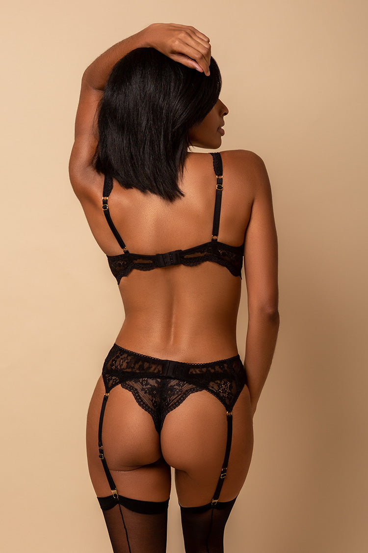 Juliette Black Lace Lingerie Set