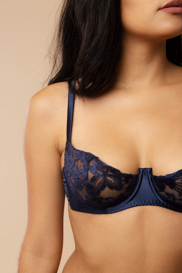 Lana Navy Lace Bra | Gilda & Pearl London | Anya Lust