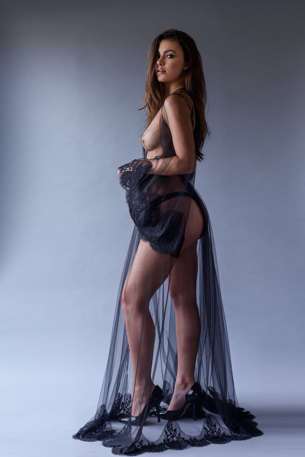 Lana Sheer Robe - Shop Anya Lust Luxury Lingerie Boutique