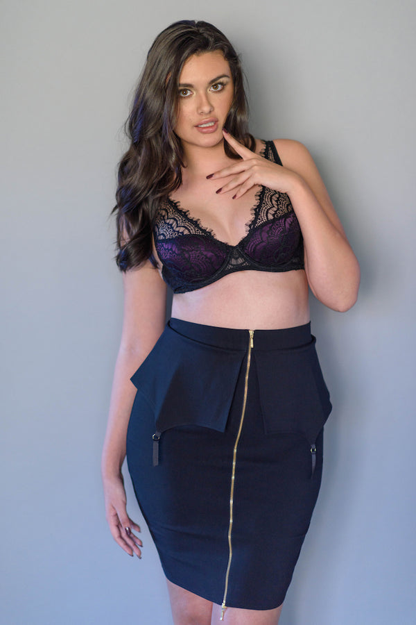 Lauren Peplum Skirt - Shop Anya Lust Luxury Lingerie Boutique