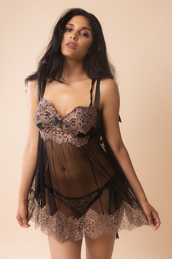 Lena Babydoll Set | Jane Woolrich Designs | Anya Lust Luxury Lingerie