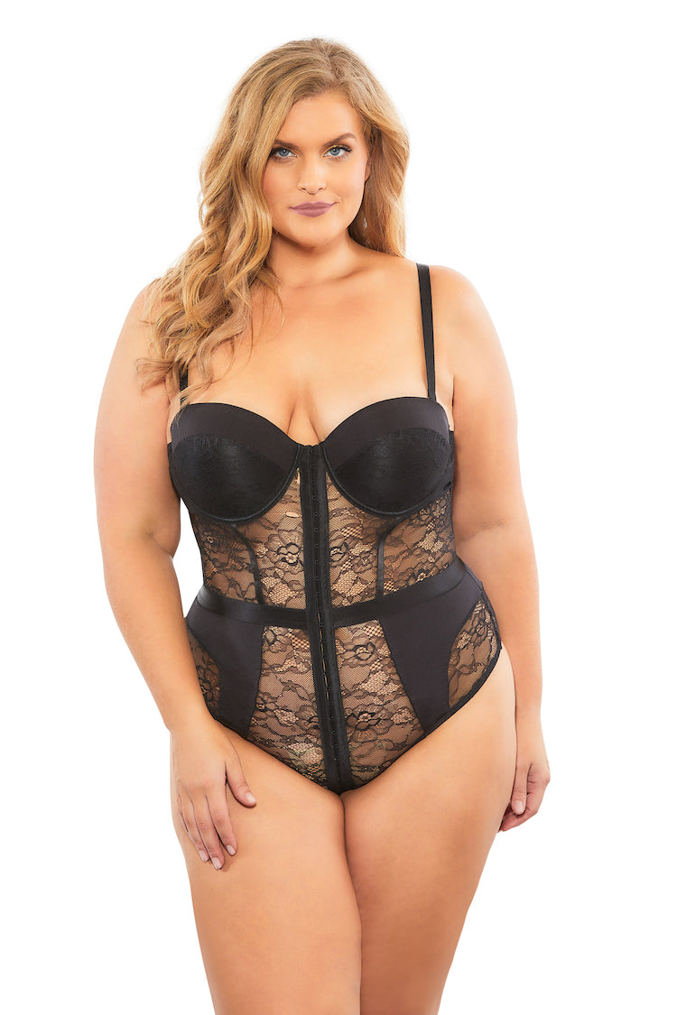 Lili Plus Size Lace Bodysuit