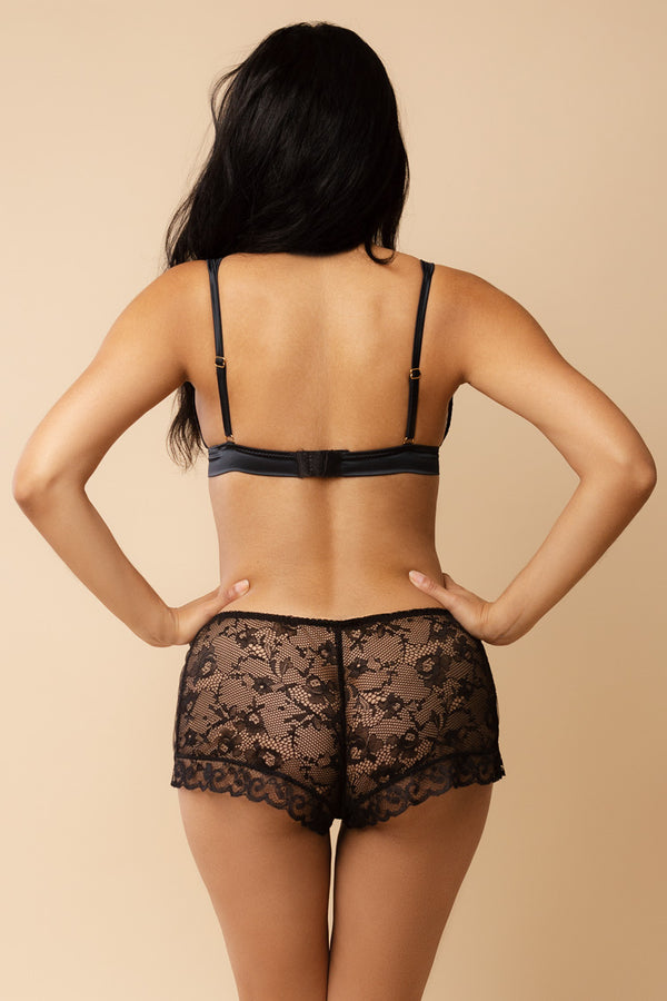 Lily Triangle Bra & Lace Shorts Lingerie Set | Les Jupons de Tess Paris | Anya Lust