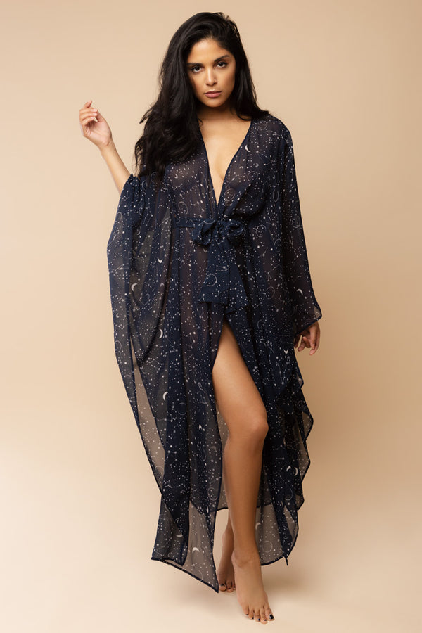 Luna Kaftan with Swarovski Constellation | Gilda & Pearl | Anya Lust