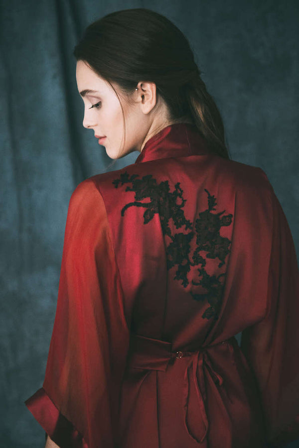 Mageia Silk Robe