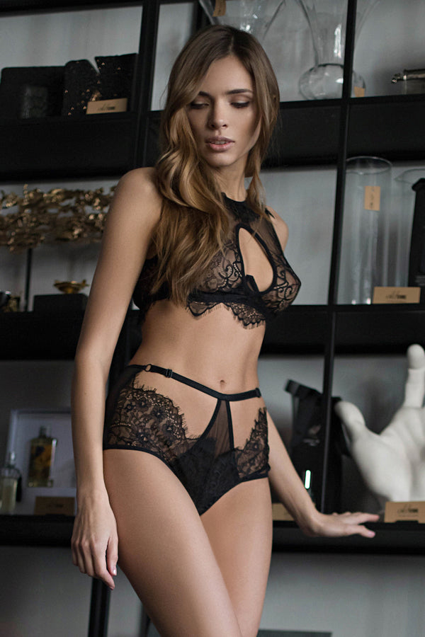 Malva Black Lingerie Set