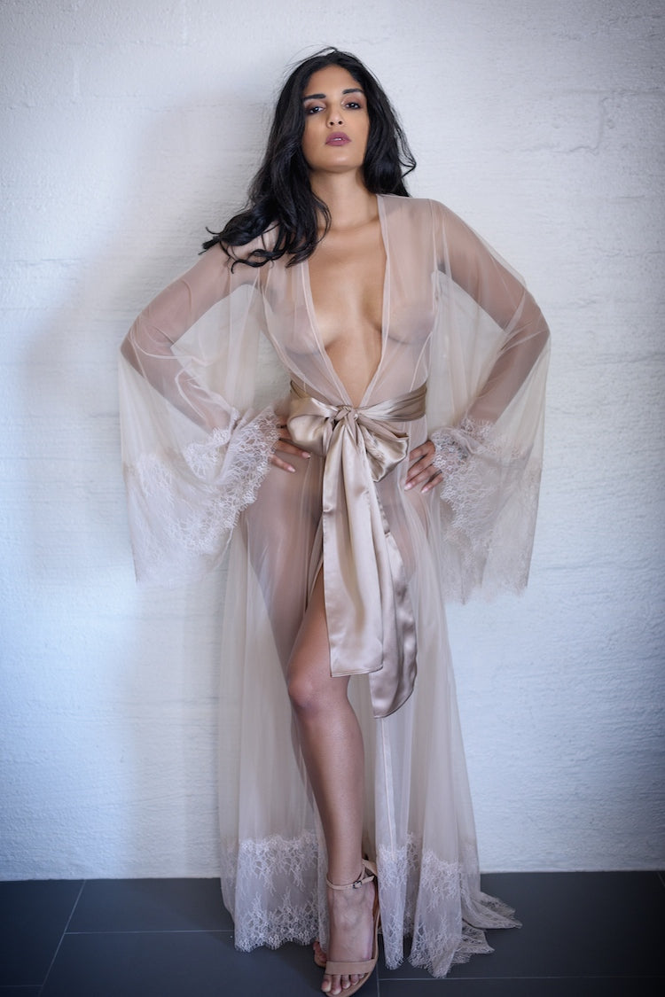 Margaux Sheer Robe - Small