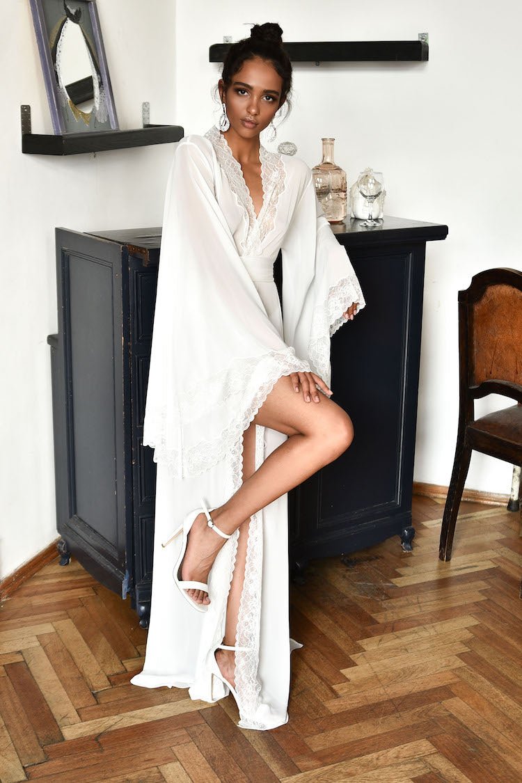 Meet Me in Paris Sheer Robe | Anya Lust Luxury Lingerie