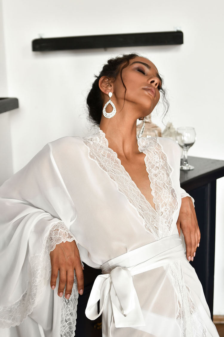 Meet Me in Paris Sheer Robe