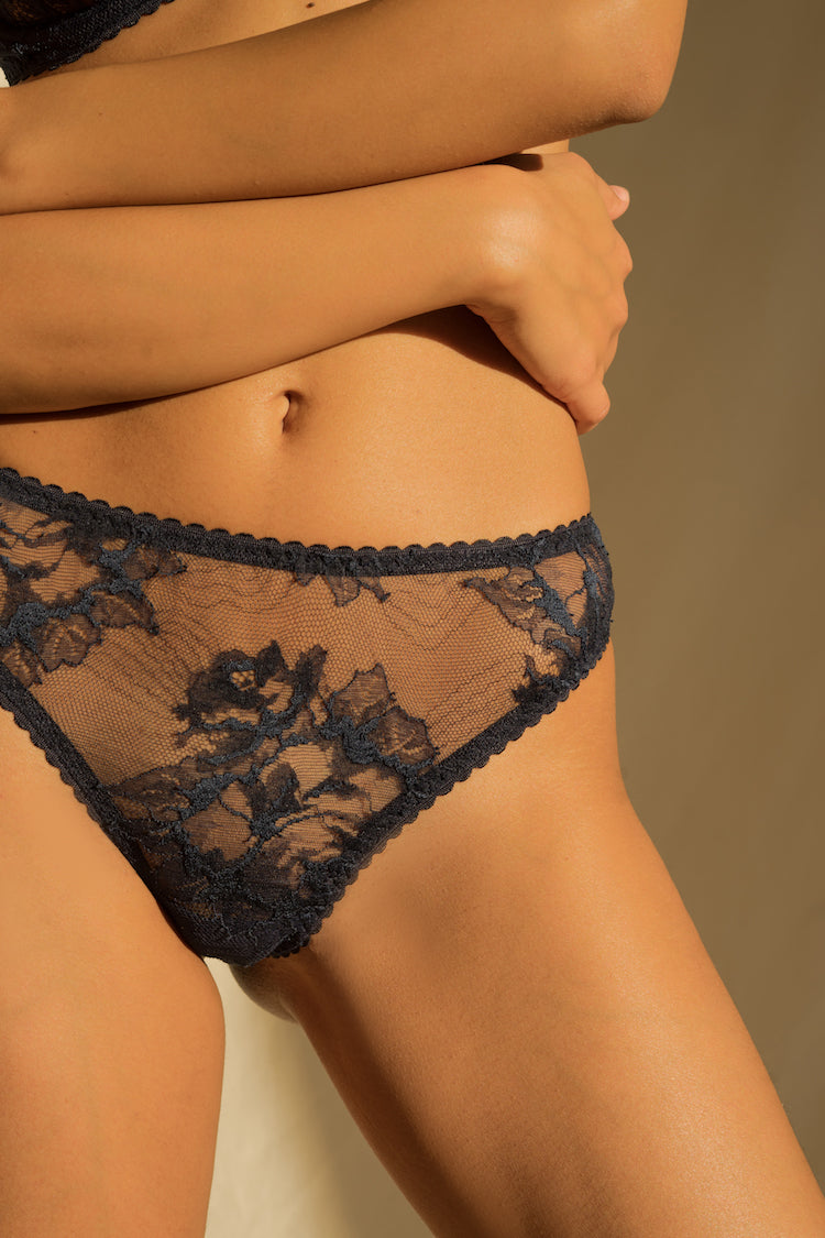 Mena Sheer Lace Thong