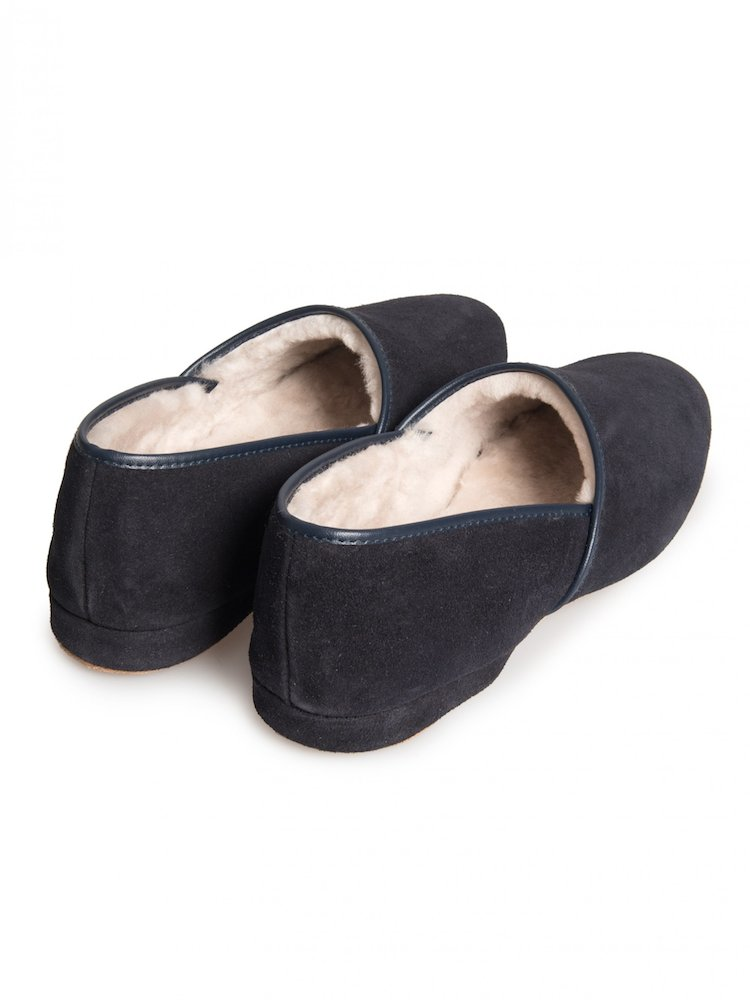 Men's Crawford Navy Slippers