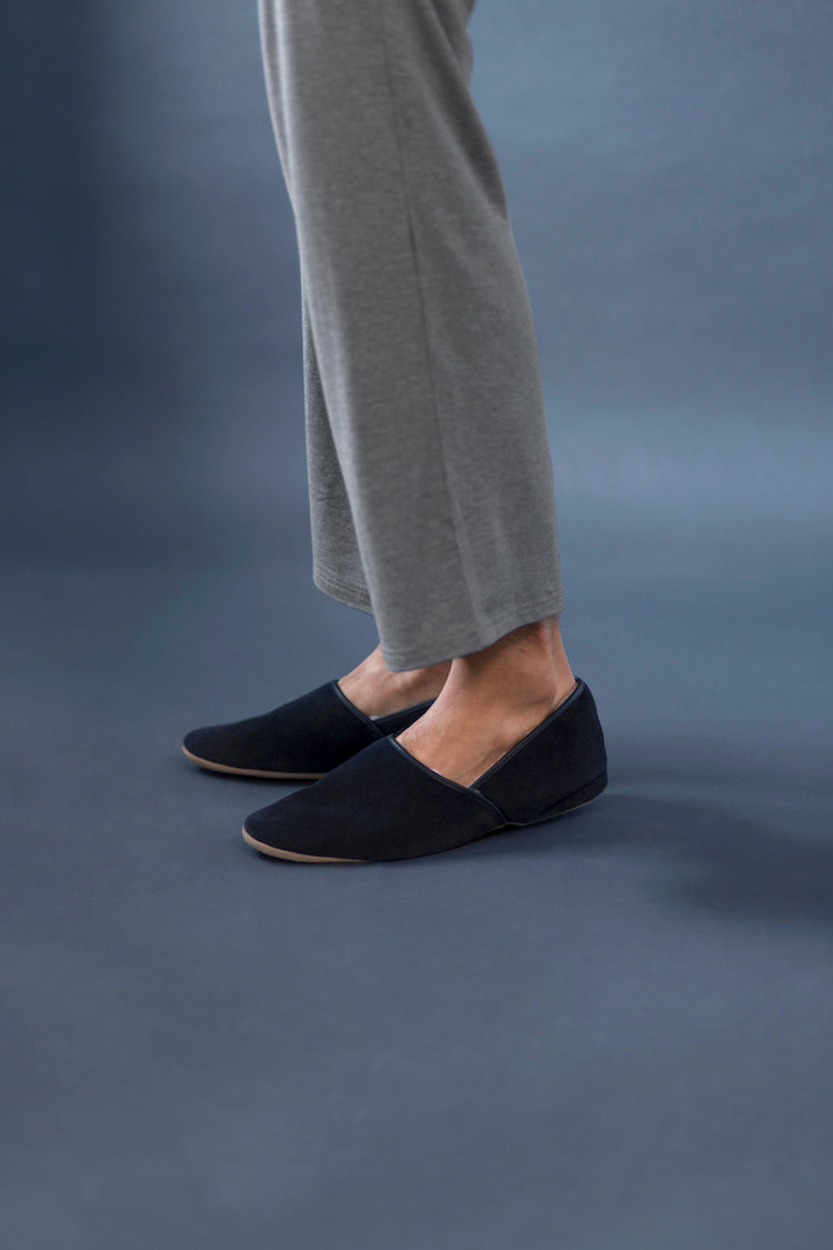 Men's Crawford Navy Slippers - Derek Rose - Anya Lust