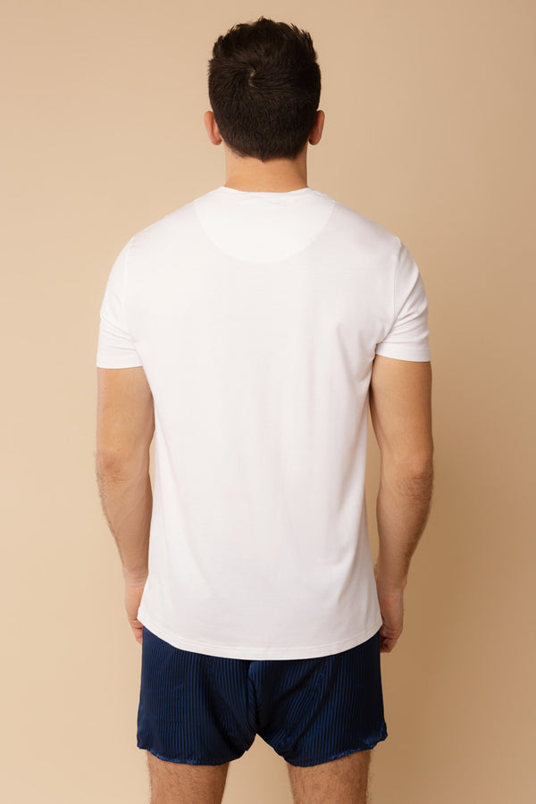 Men's Short Sleeve Shirt White | Derek Rose London | Anya Lust