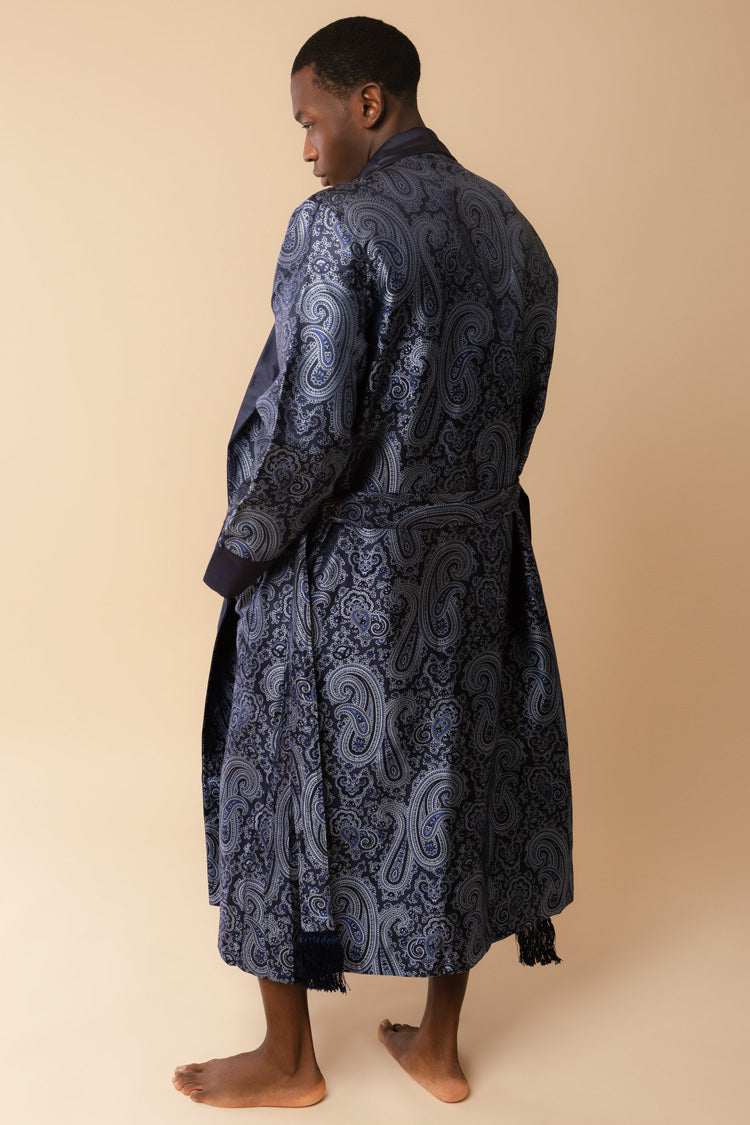 Men's Verona Silk Jacquard Robe | Derek Rose | Anya Lust New York