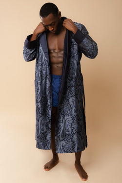 Men's Verona Silk Jacquard Robe | Derek Rose | Anya Lust