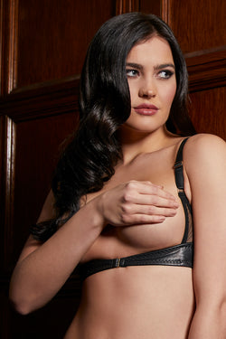 Leather Harness Bra Something Wicked | Anya Lust