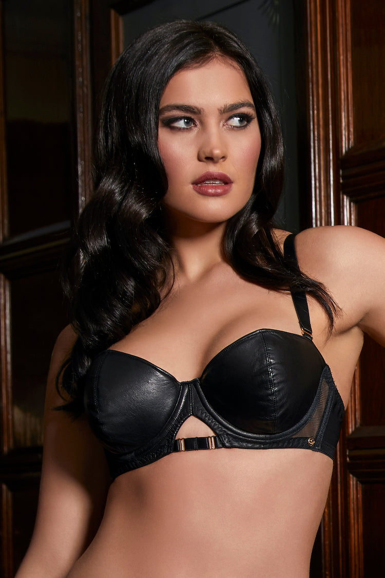 Leather Bra | Luxury Lingerie | Anya Lust