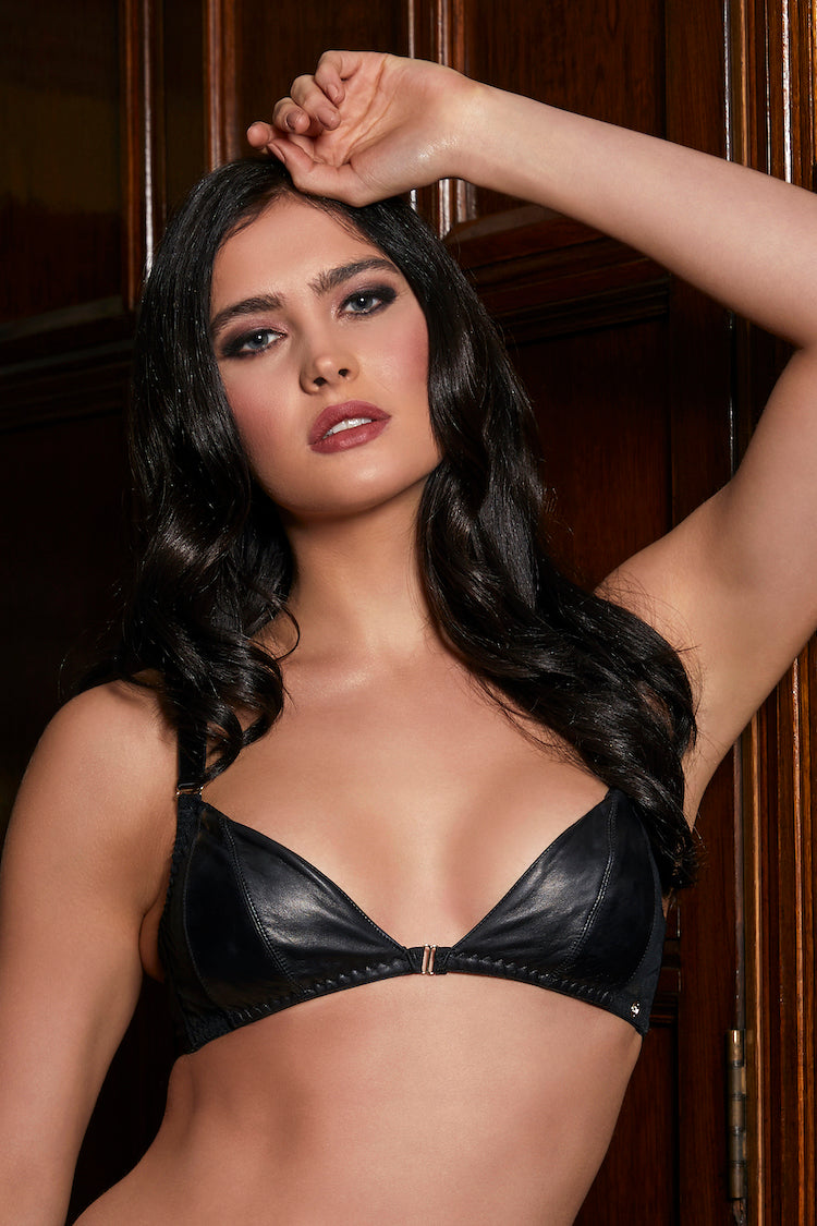 Montana Leather Soft Cup Bra | Something Wicked | Anya Lust
