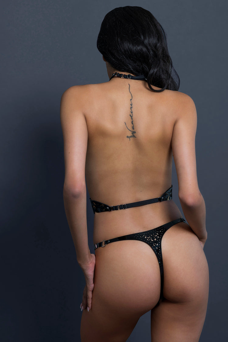 Nero Leather Thong | Nero Harness | Anya Lust
