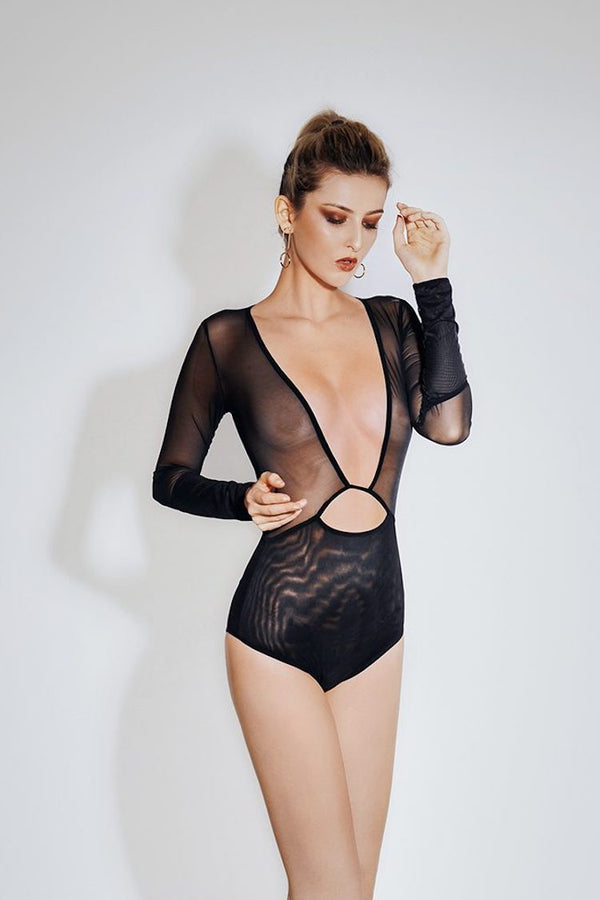 Noir Cut Out Bodysuit