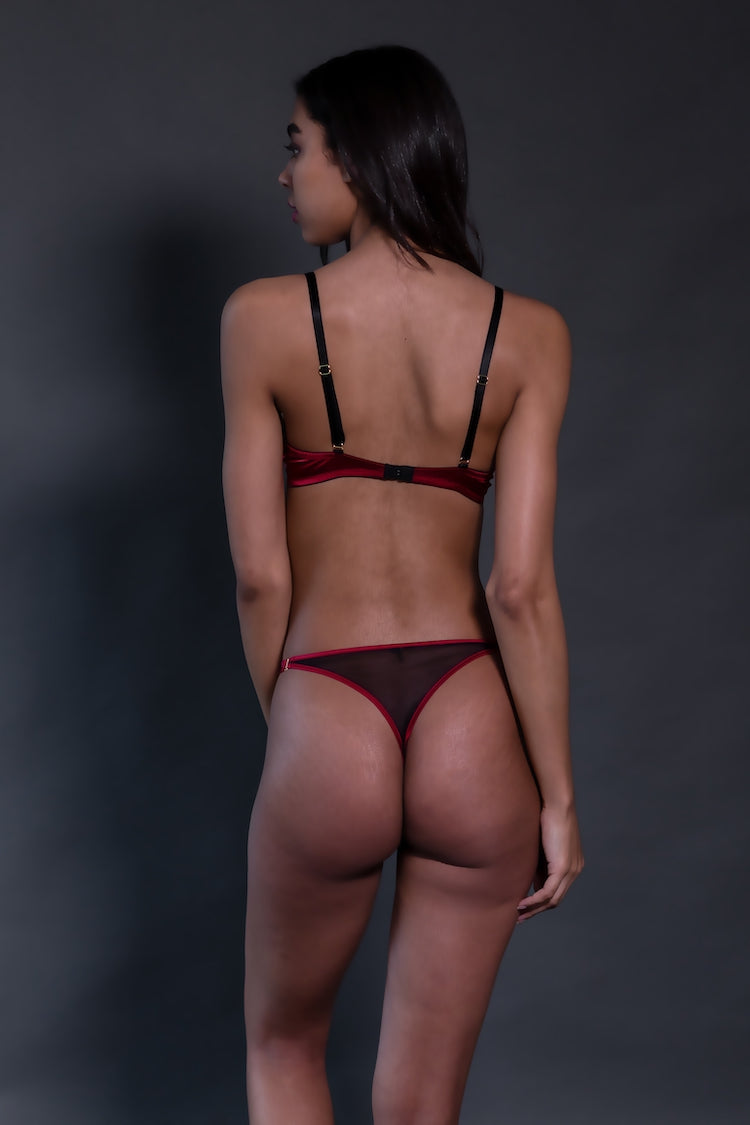 Odette Lace Thong | See Through Underwear | Tatu Couture | Anya Lust