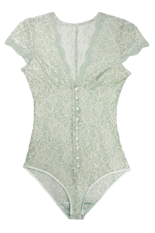 Olive Jade Classic Bodysuit - Front - Anya Lust