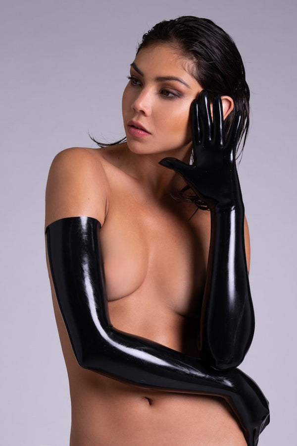 Elissa Poppy Latex Gloves | Anya Lust Sexy Lingerie