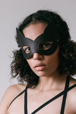 Onyx Kitten Mask - Anya Lust Luxury Boutique